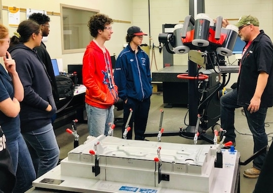Assumption students at Bowman Precision Tooling