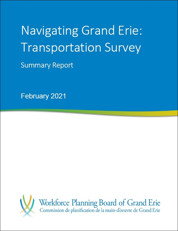 Photo of transportation survey report cover