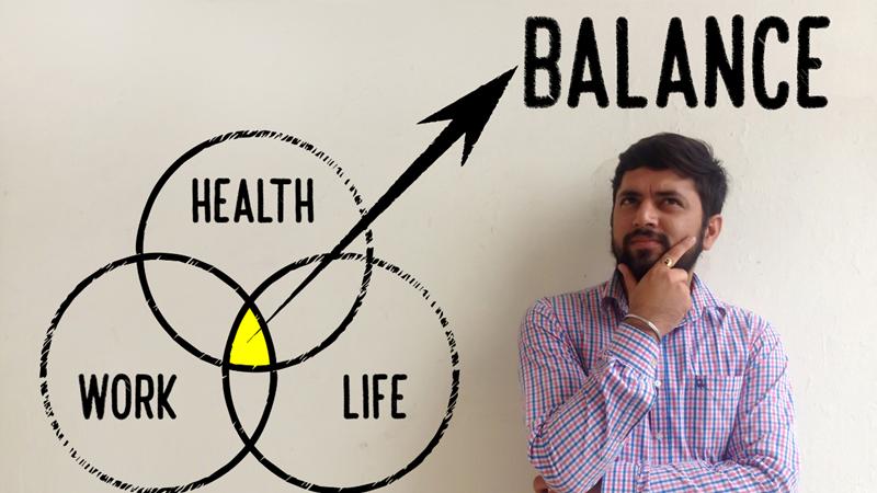 Illustration for work-life balance survey post