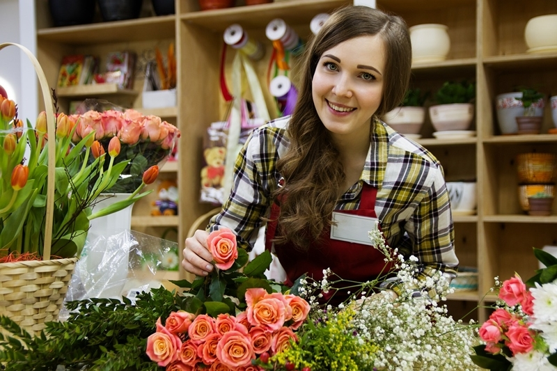 Employment - flower shop worker - story on April 2021 employment for Brantford
